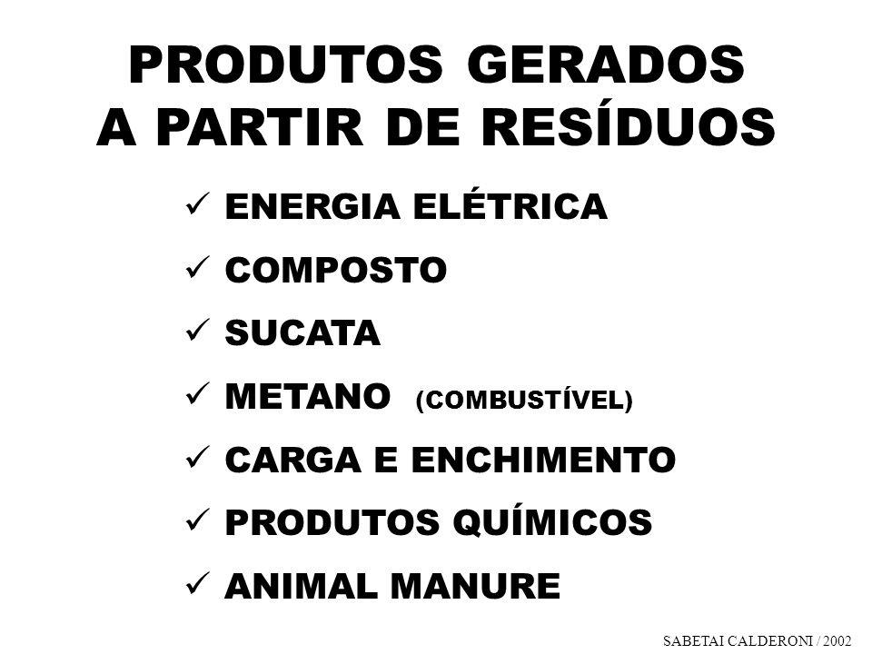 PRODUTOS GERADOS A PARTIR DE RESÍDUOS