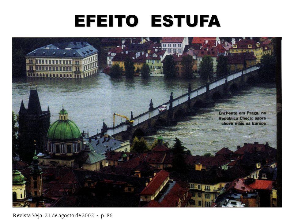 EFEITO ESTUFA Revista Veja 21 de agosto de 2002 - p. 86