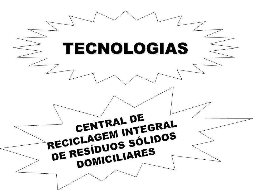 CENTRAL DE RECICLAGEM INTEGRAL DE RESÍDUOS SÓLIDOS DOMICILIARES