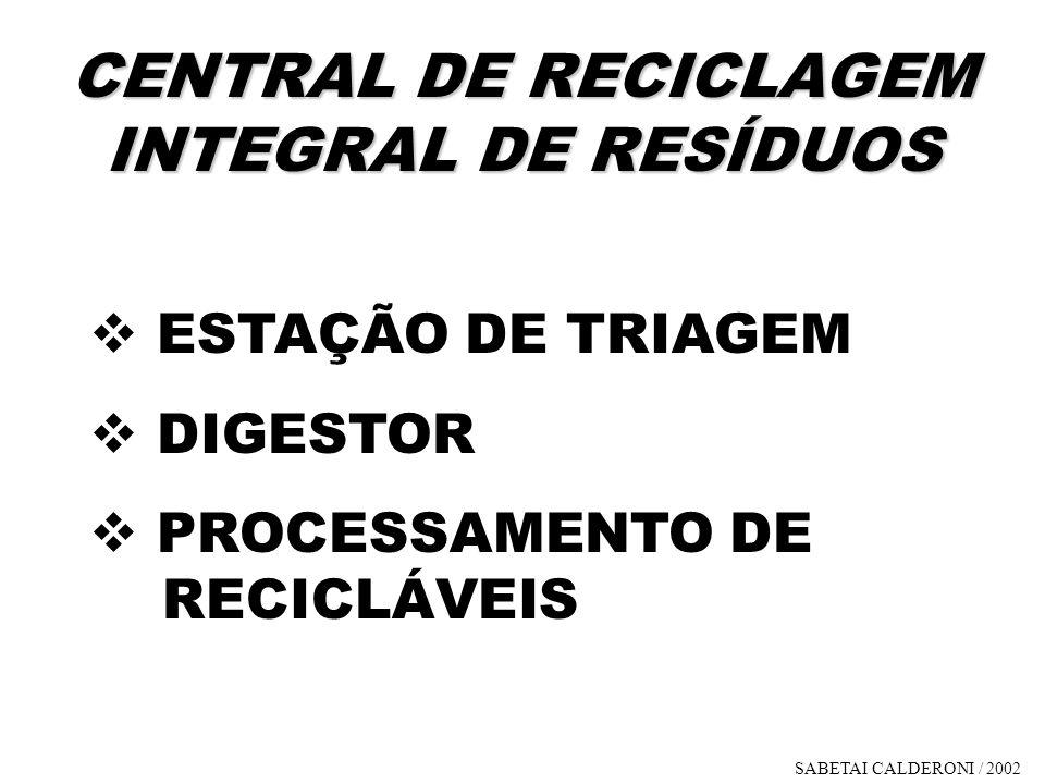 CENTRAL DE RECICLAGEM INTEGRAL DE RESÍDUOS