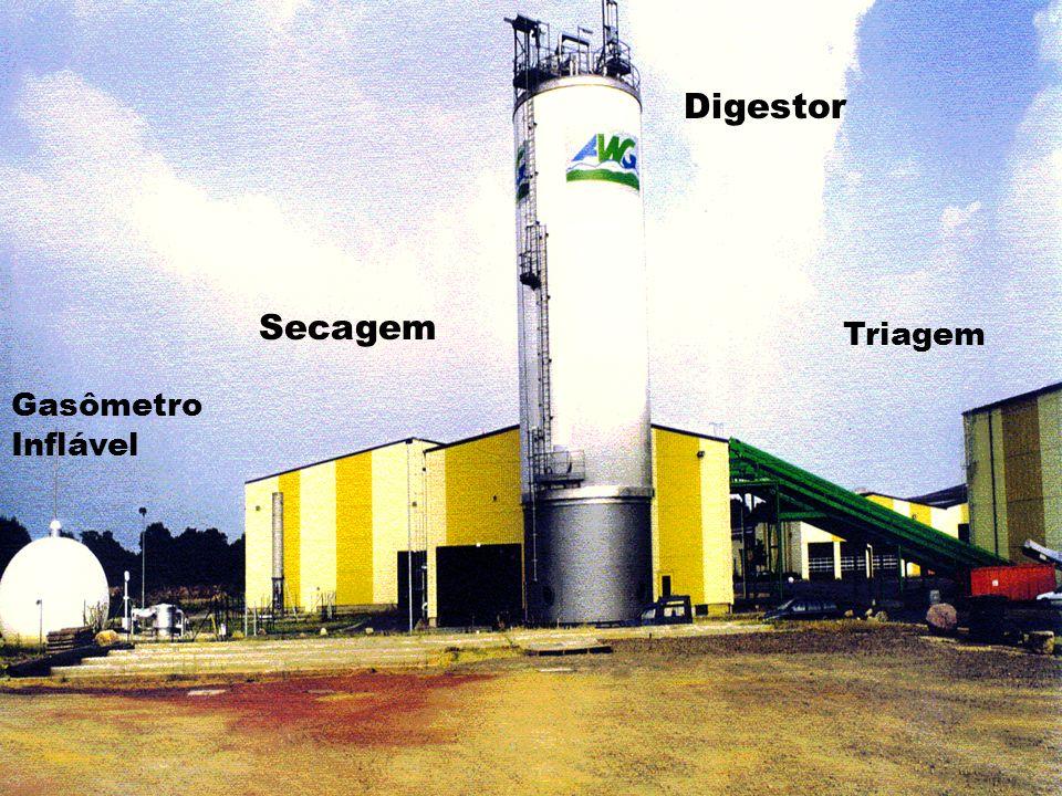 Digestor Secagem Triagem Gasômetro Inflável