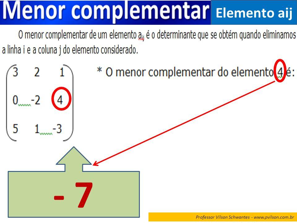 Elemento aij - 7 Professor Vilson Schwantes - www.pvilson.com.br