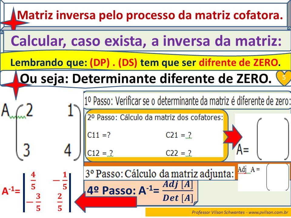 Calcular, caso exista, a inversa da matriz: