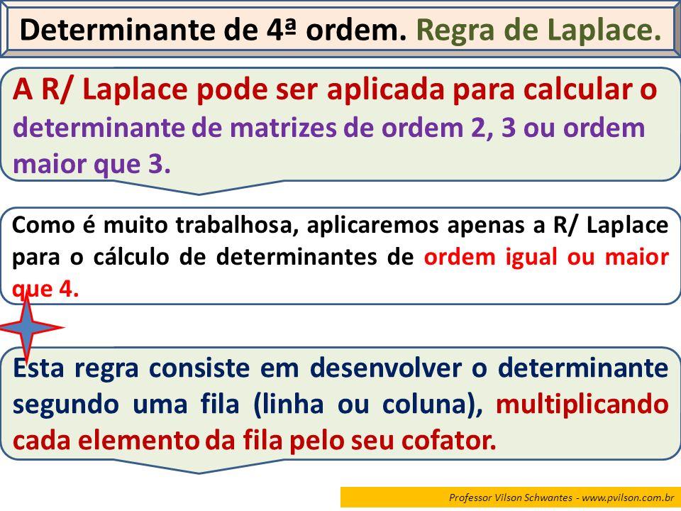 Determinante de 4ª ordem. Regra de Laplace.