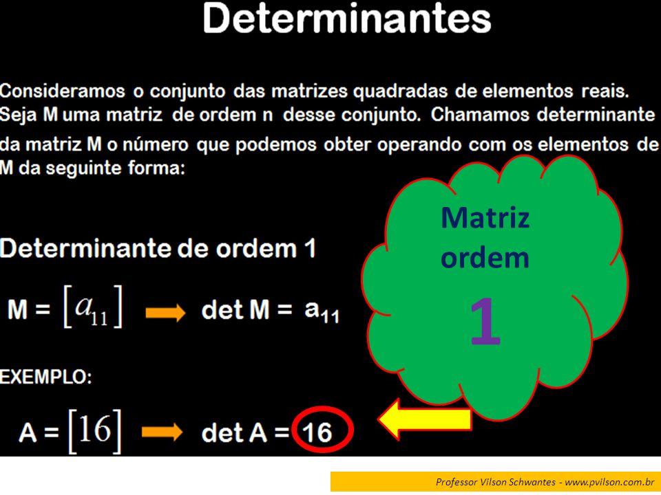 Matriz ordem 1 Professor Vilson Schwantes - www.pvilson.com.br