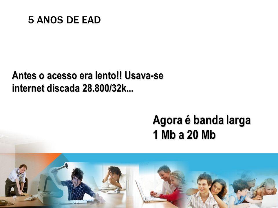 Agora é banda larga 1 Mb a 20 Mb
