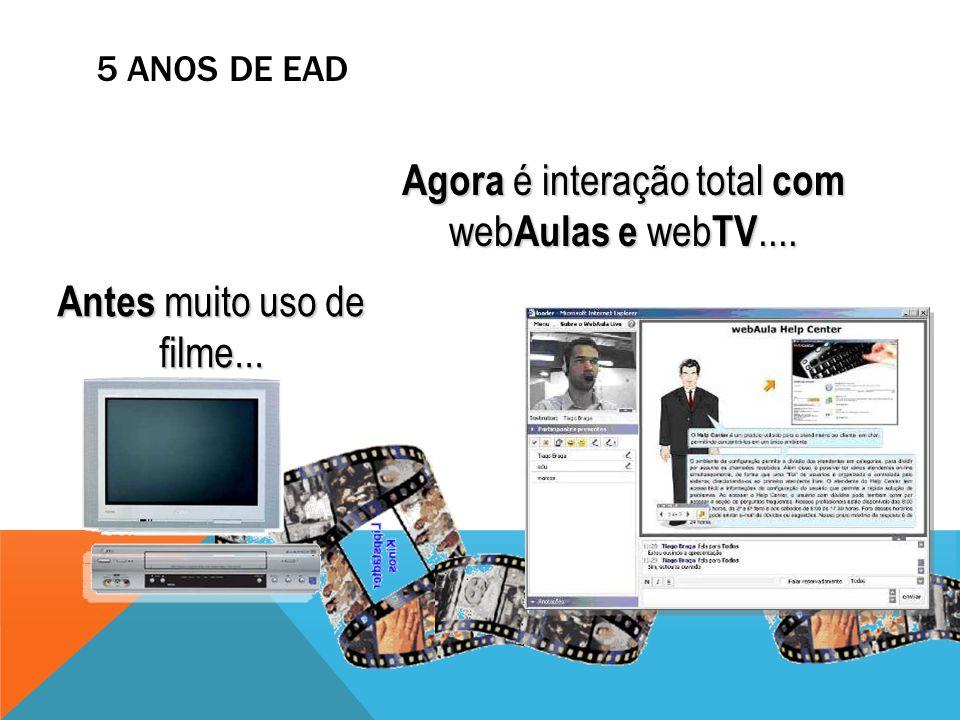 Agora é interação total com webAulas e webTV....