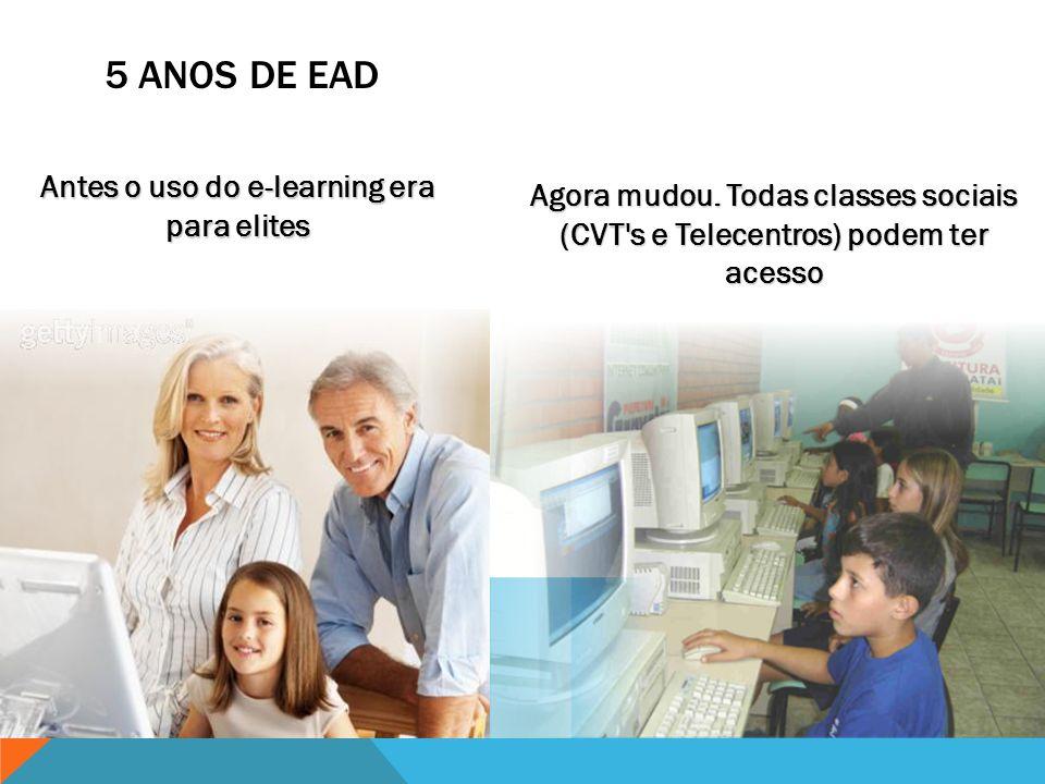 Antes o uso do e-learning era para elites