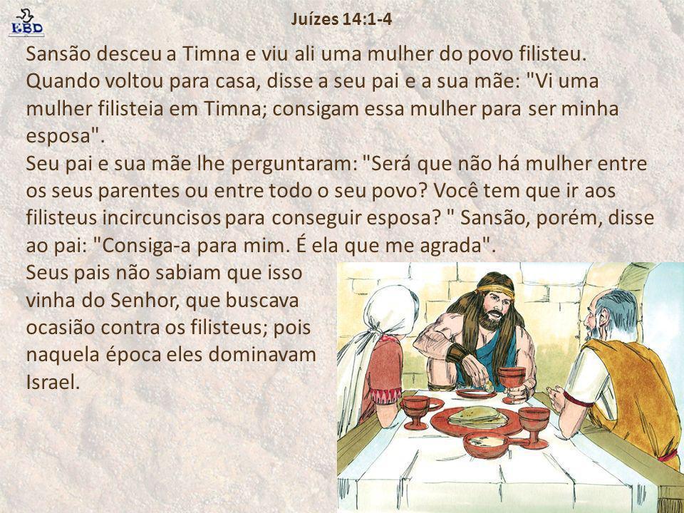 Juízes 14:1-4
