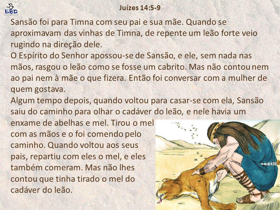 Juízes 14:5-9