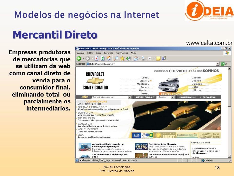 Mercantil Direto Modelos de negócios na Internet www.celta.com.br