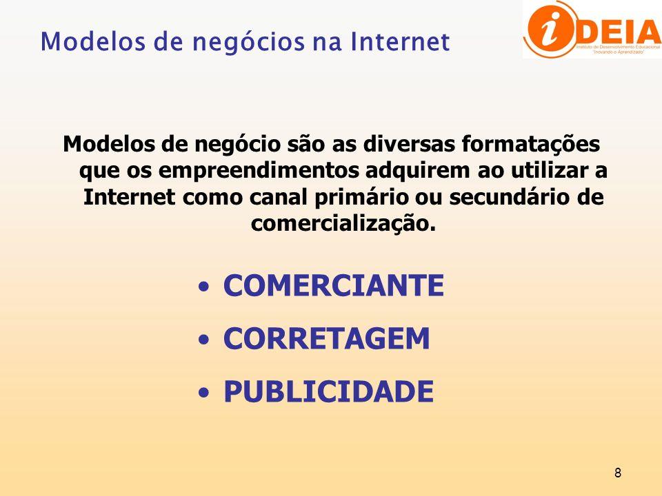 COMERCIANTE CORRETAGEM PUBLICIDADE Modelos de negócios na Internet