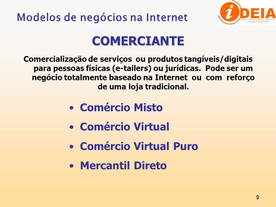 COMERCIANTE Modelos de negócios na Internet Comércio Misto