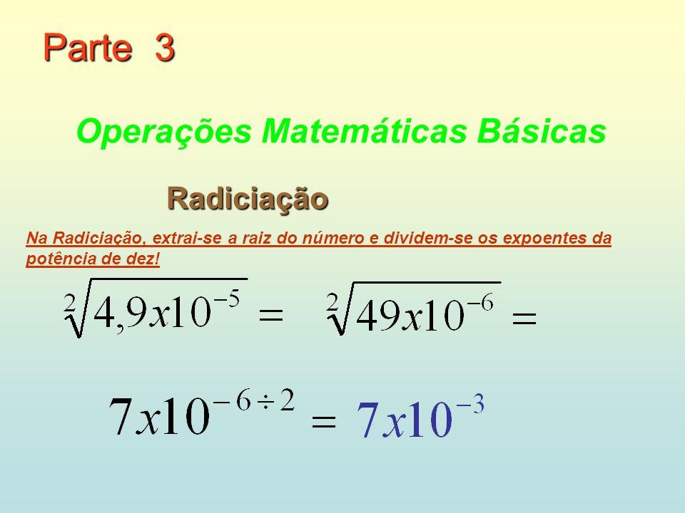 Parte 3 Operações Matemáticas Básicas Radiciação