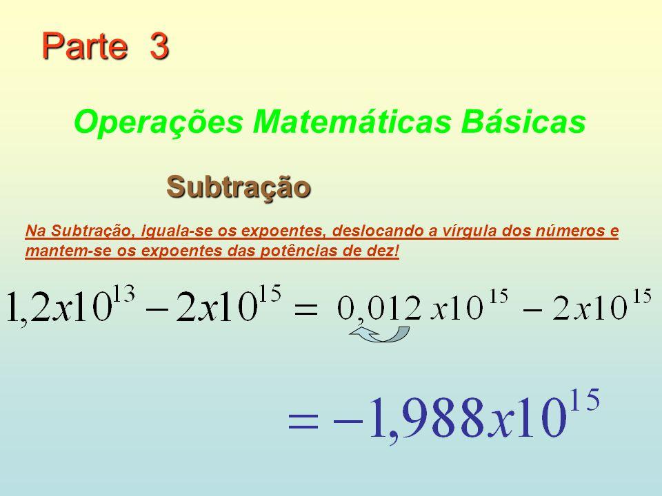 Parte 3 Operações Matemáticas Básicas Subtração