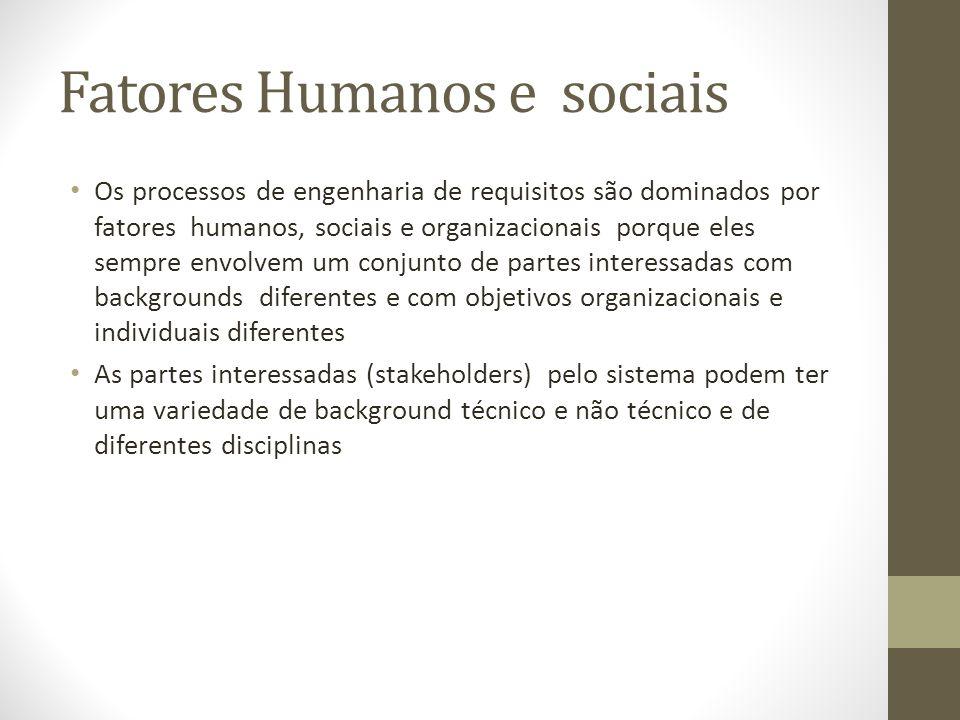 Fatores Humanos e sociais
