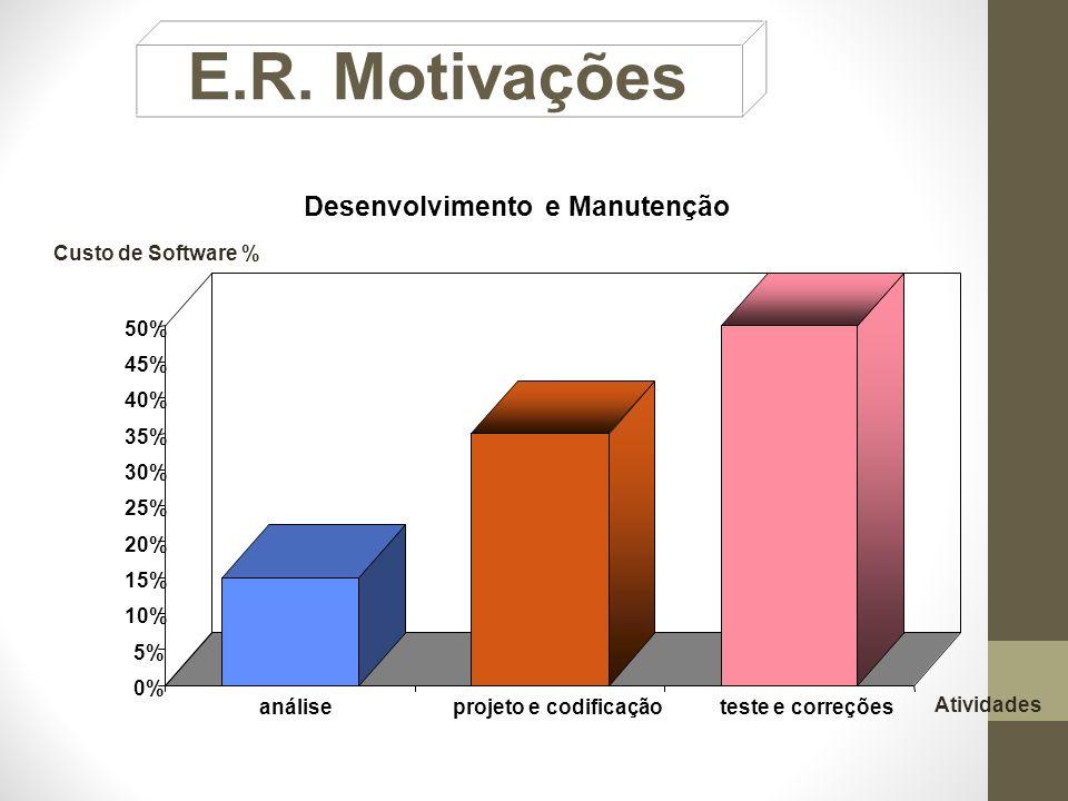 E.R. Motivações Desenvolvimento e Manutenção 0% 5% 10% 15% 20% 25% 30%