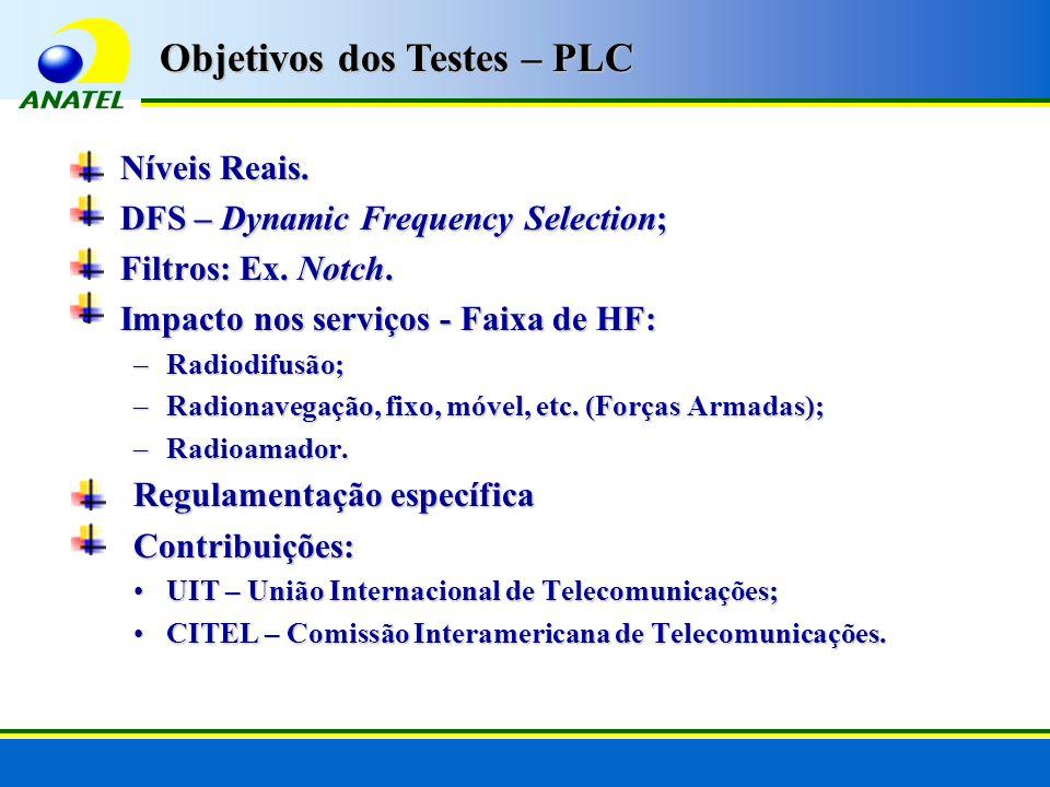 Objetivos dos Testes – PLC