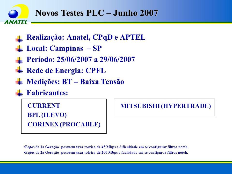 Novos Testes PLC – Junho 2007