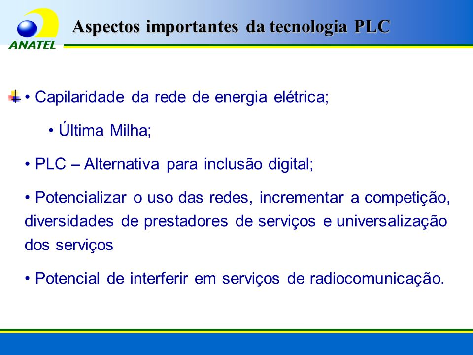 Aspectos importantes da tecnologia PLC