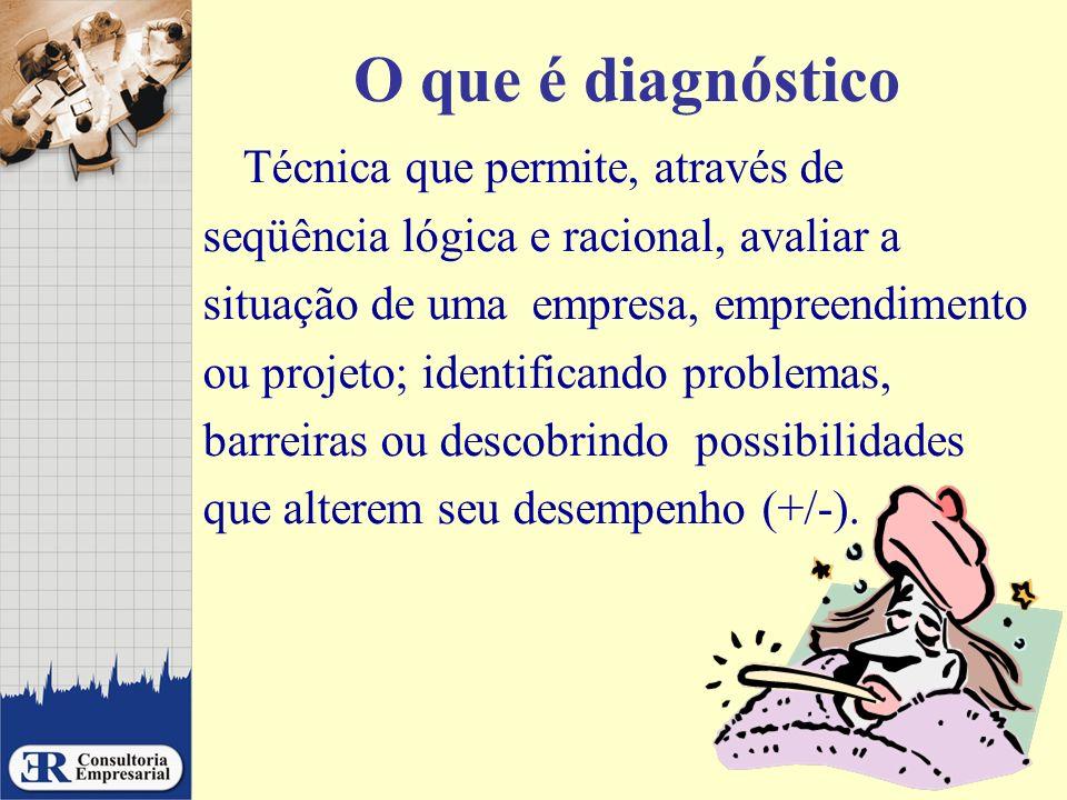 O que é diagnóstico Técnica que permite, através de