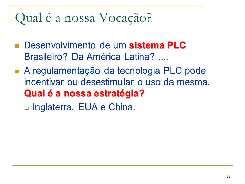 Qual é a nossa Vocação Desenvolvimento de um sistema PLC Brasileiro Da América Latina ....