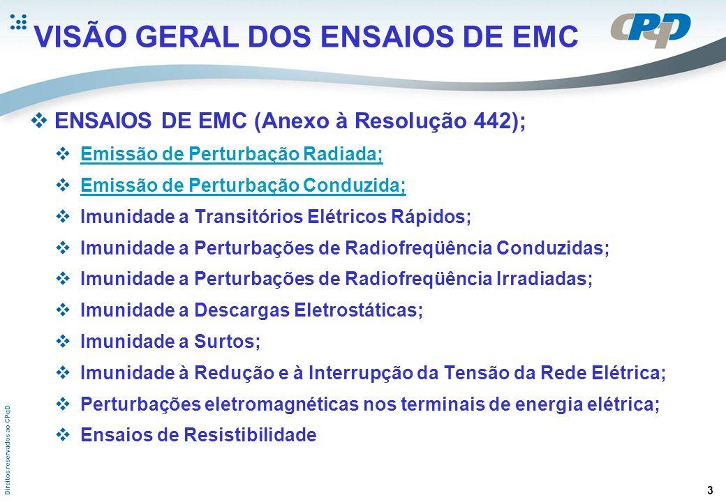 VISÃO GERAL DOS ENSAIOS DE EMC