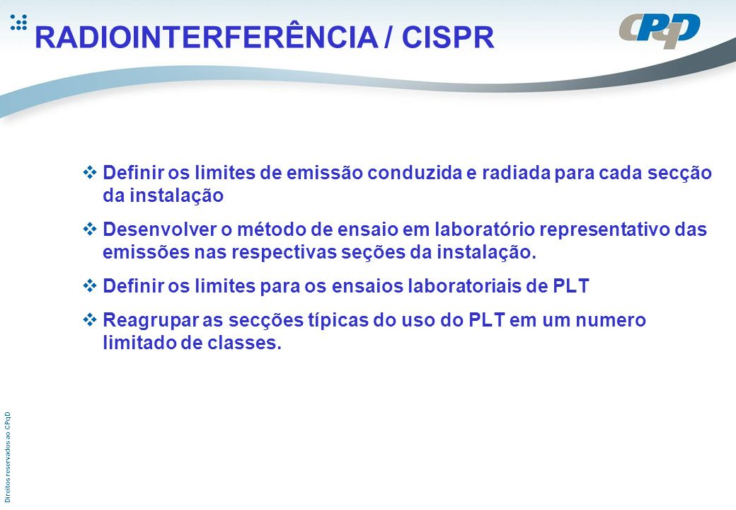 RADIOINTERFERÊNCIA / CISPR