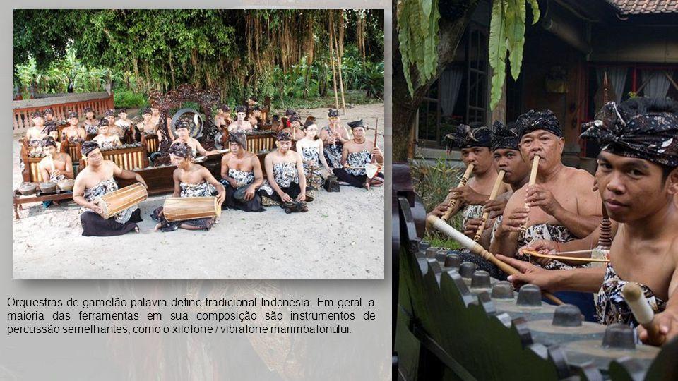 Orquestras de gamelão palavra define tradicional Indonésia