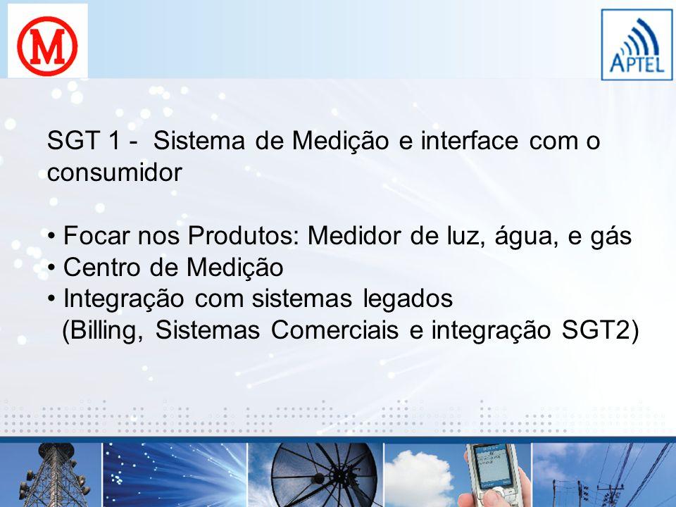 SGT 1 - Sistema de Medição e interface com o consumidor