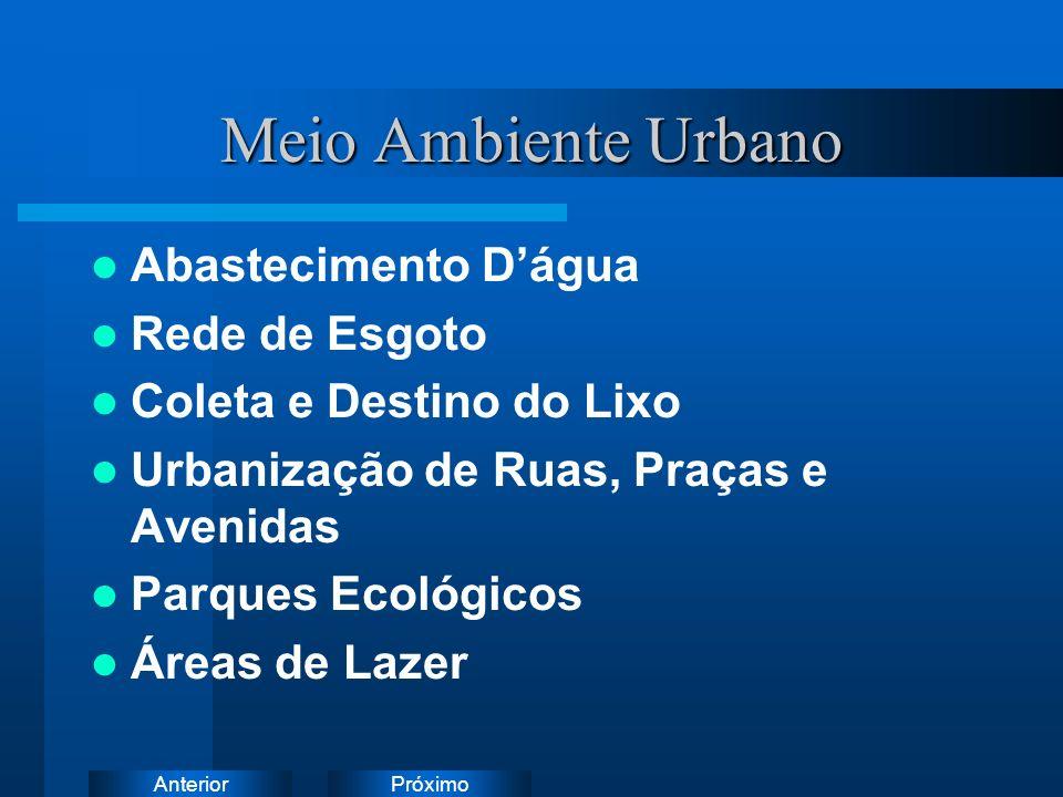 Meio Ambiente Urbano Abastecimento D'água Rede de Esgoto