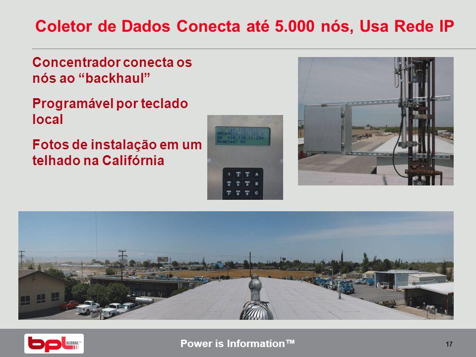 Coletor de Dados Conecta até 5.000 nós, Usa Rede IP