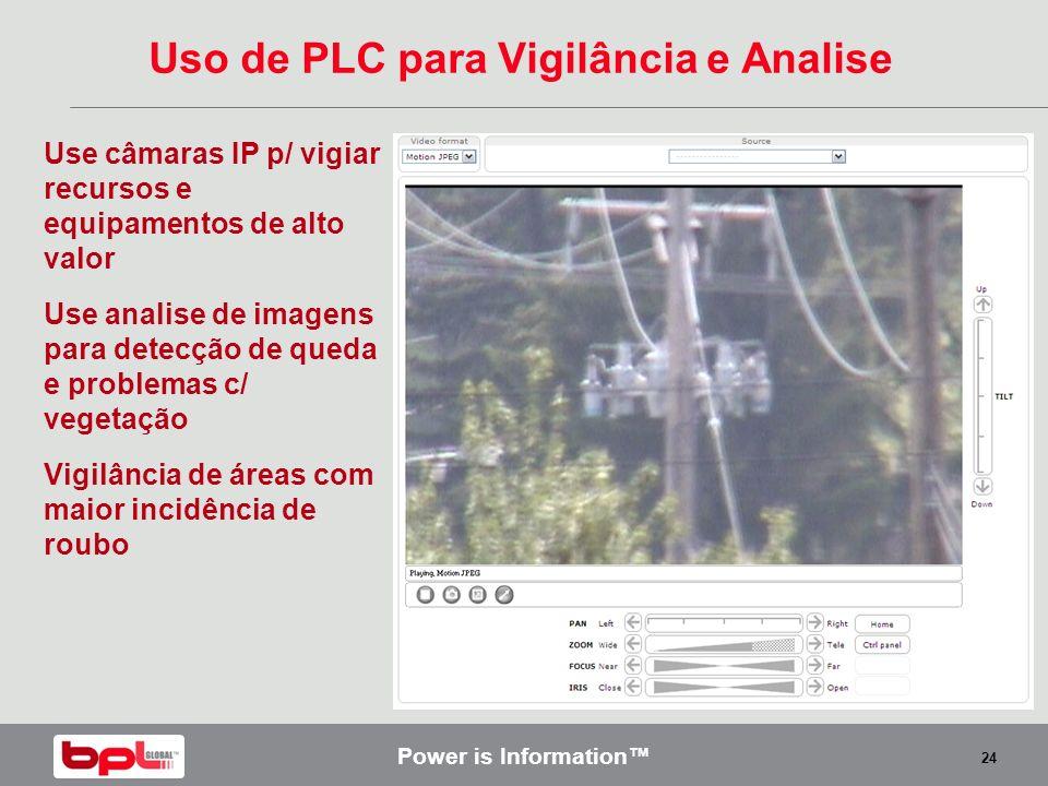 Uso de PLC para Vigilância e Analise