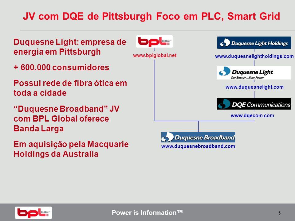 JV com DQE de Pittsburgh Foco em PLC, Smart Grid