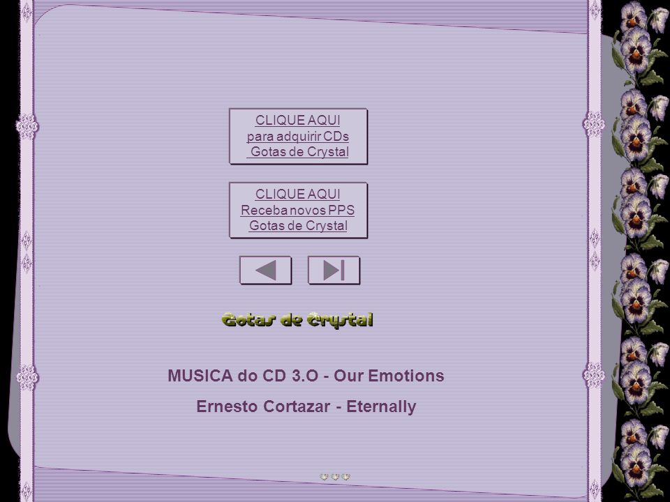 MUSICA do CD 3.O - Our Emotions Ernesto Cortazar - Eternally