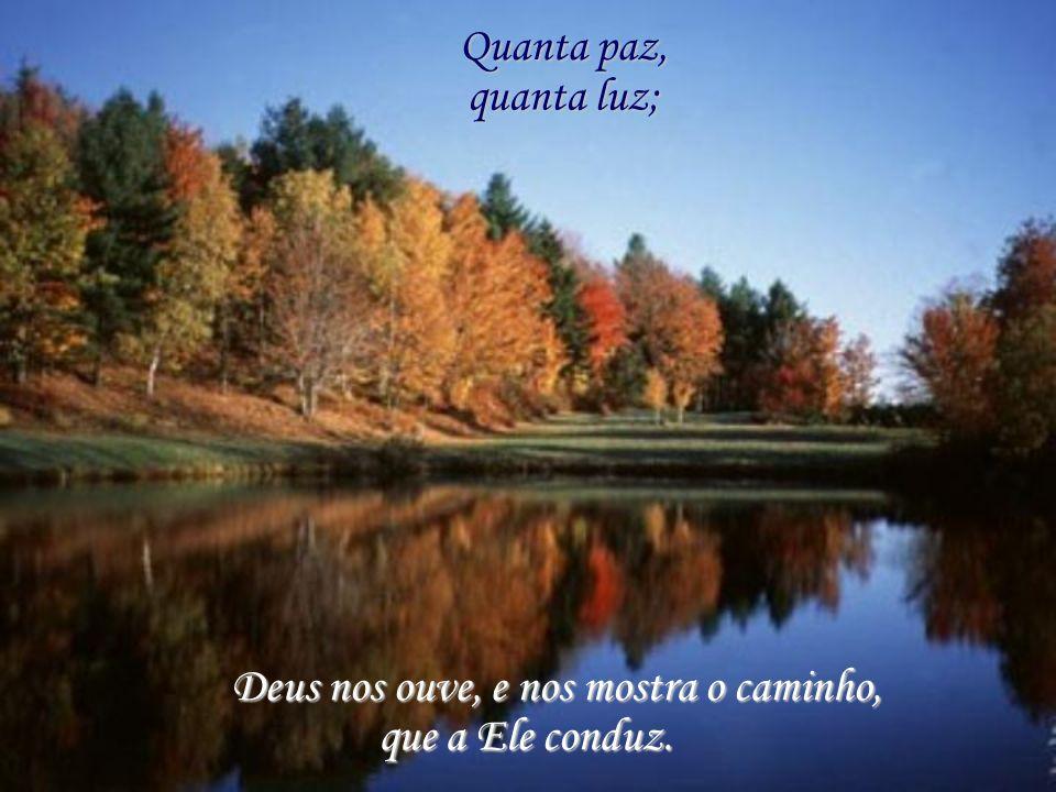 Quanta paz, quanta luz; Deus nos ouve, e nos mostra o caminho, que a Ele conduz.