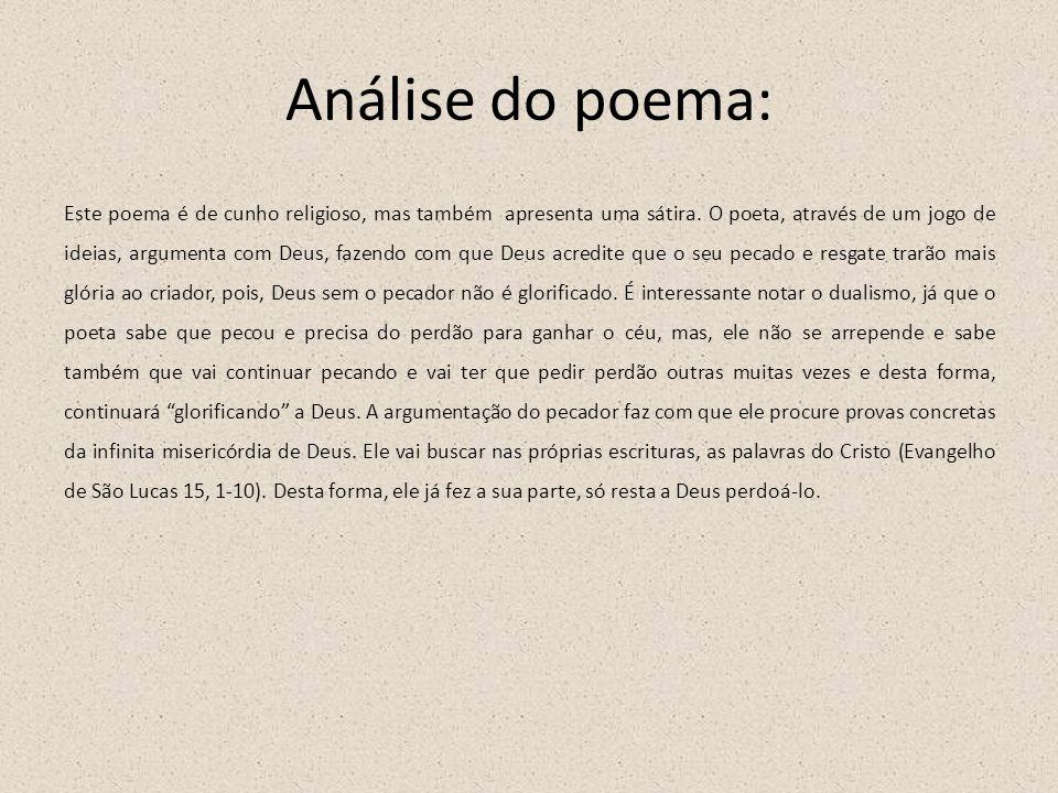 Análise do poema:
