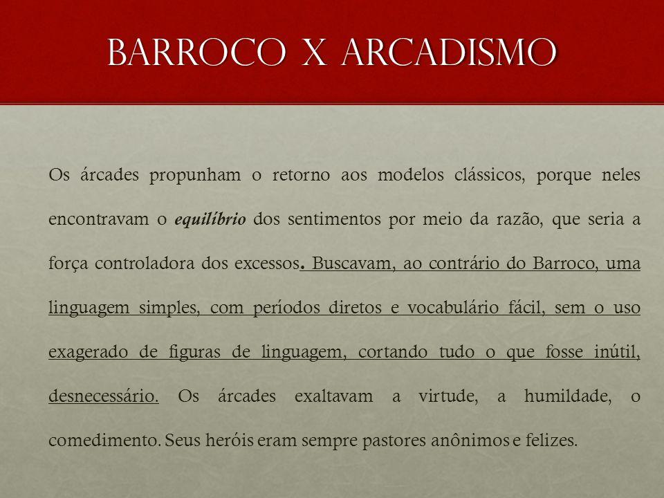 Barroco x arcadismo