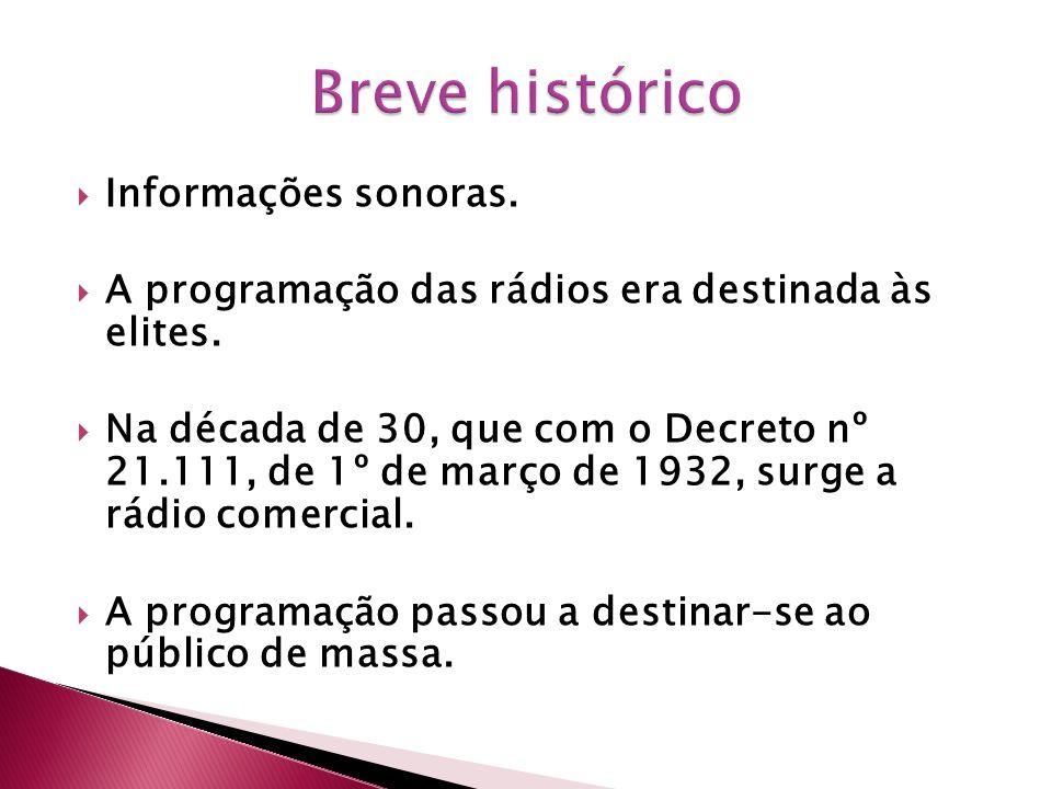 Breve histórico Informações sonoras.