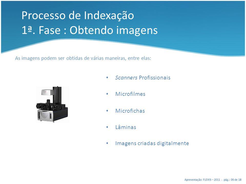 Processo de Indexação 1ª. Fase : Obtendo imagens