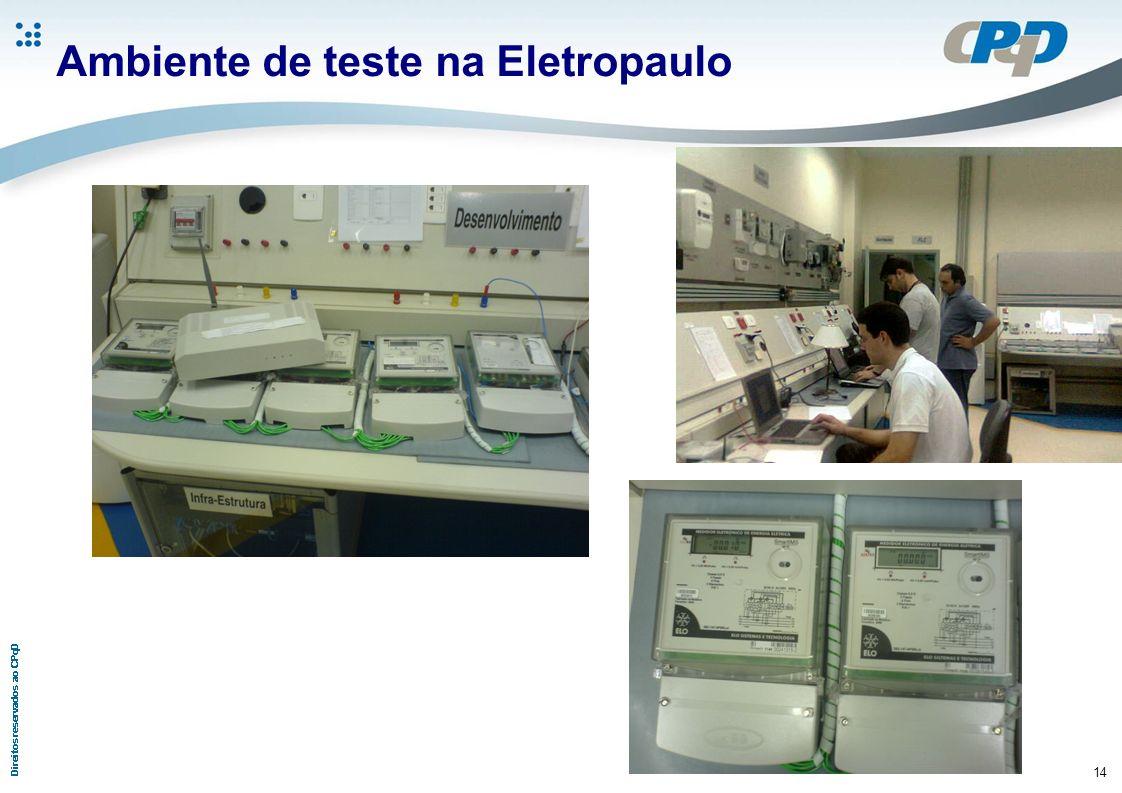 Ambiente de teste na Eletropaulo