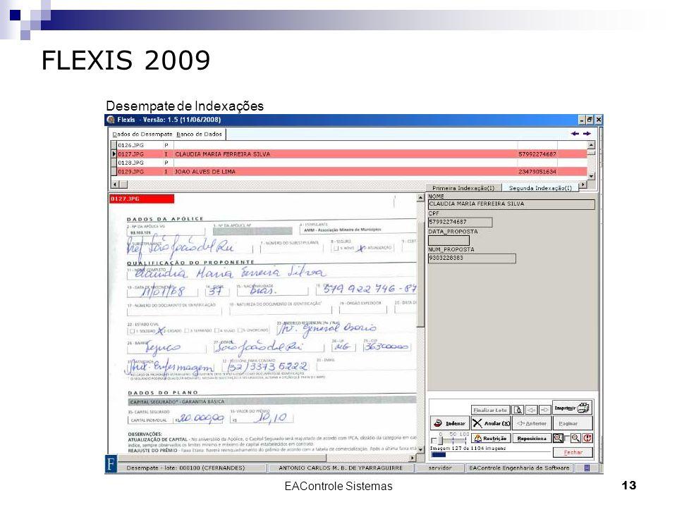 FLEXIS 2009 Desempate de Indexações EAControle Sistemas