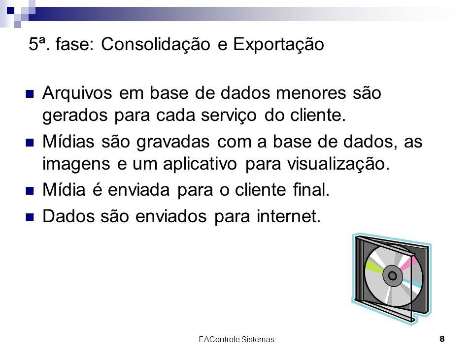 5ª. fase: Consolidação e Exportação