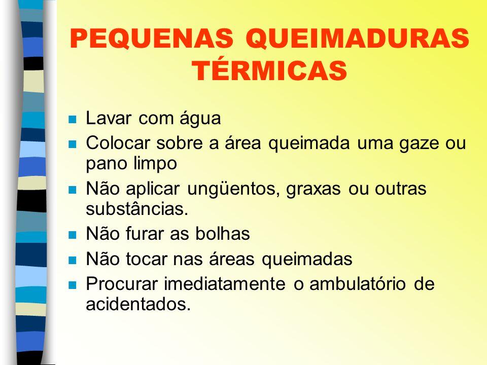 PEQUENAS QUEIMADURAS TÉRMICAS