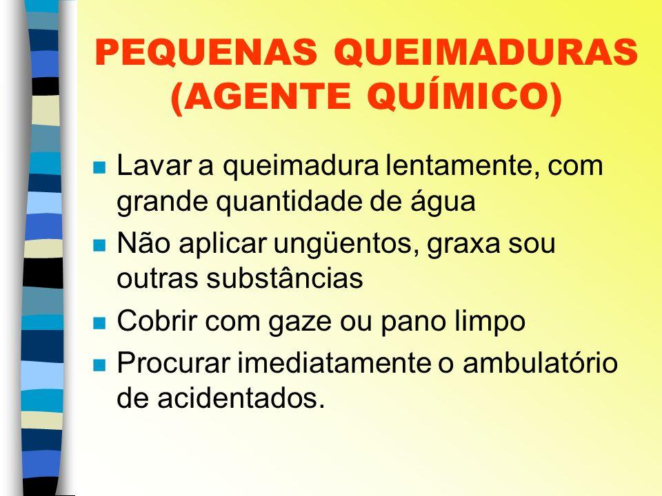PEQUENAS QUEIMADURAS (AGENTE QUÍMICO)