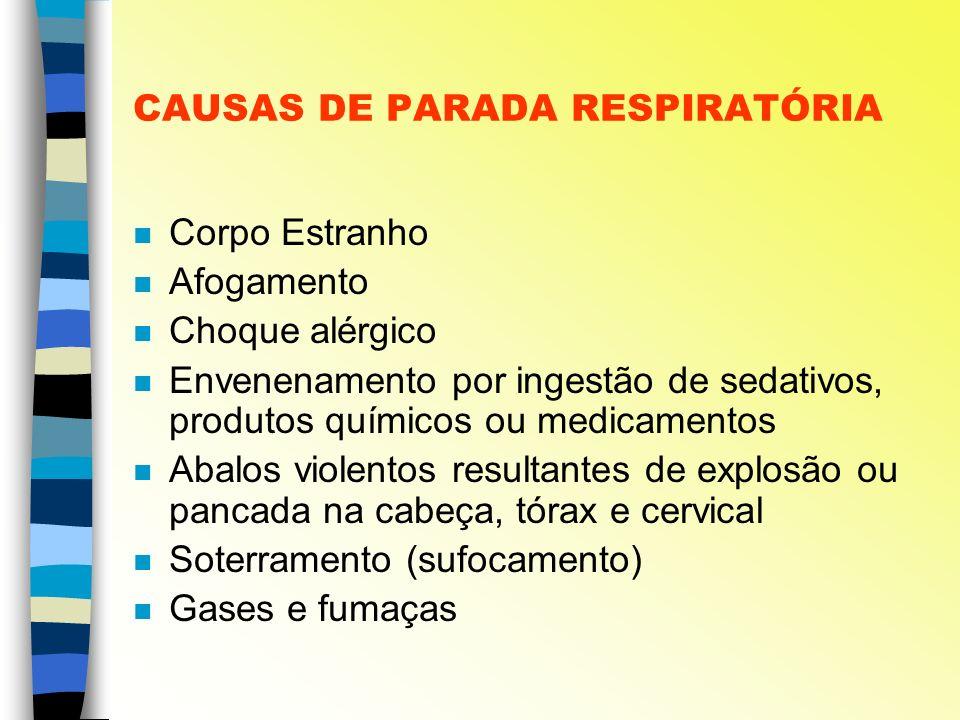 CAUSAS DE PARADA RESPIRATÓRIA
