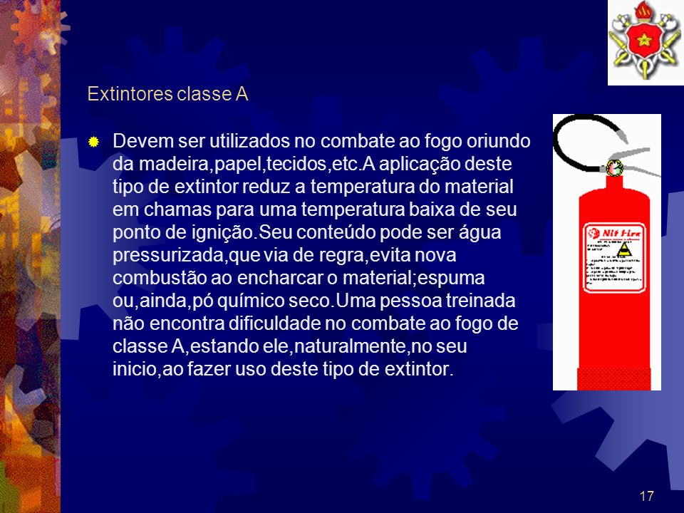 Extintores classe A