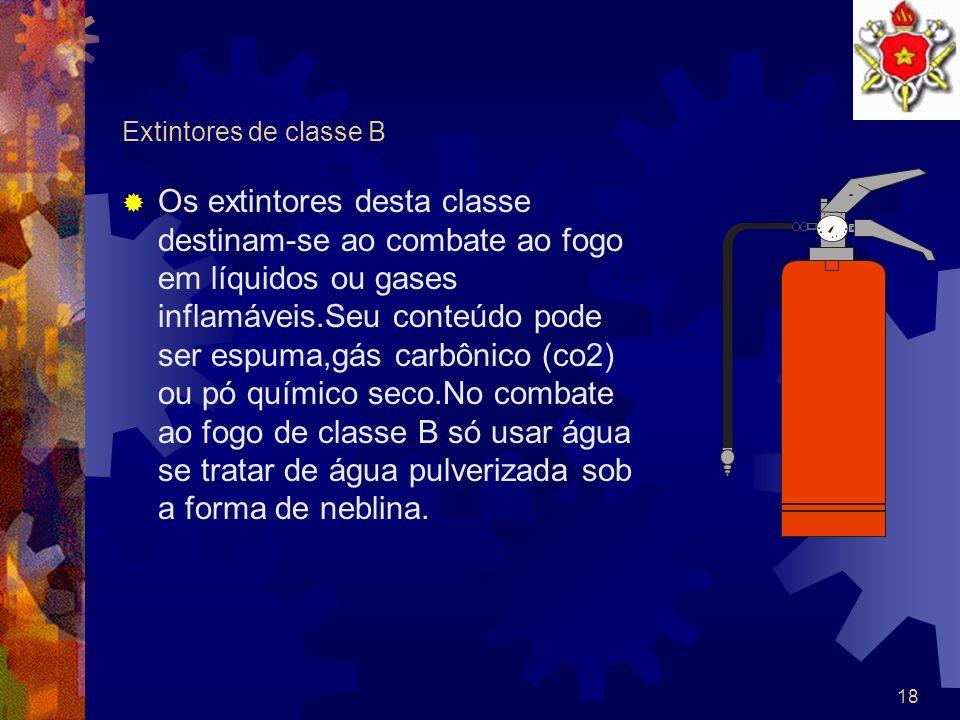 Extintores de classe B