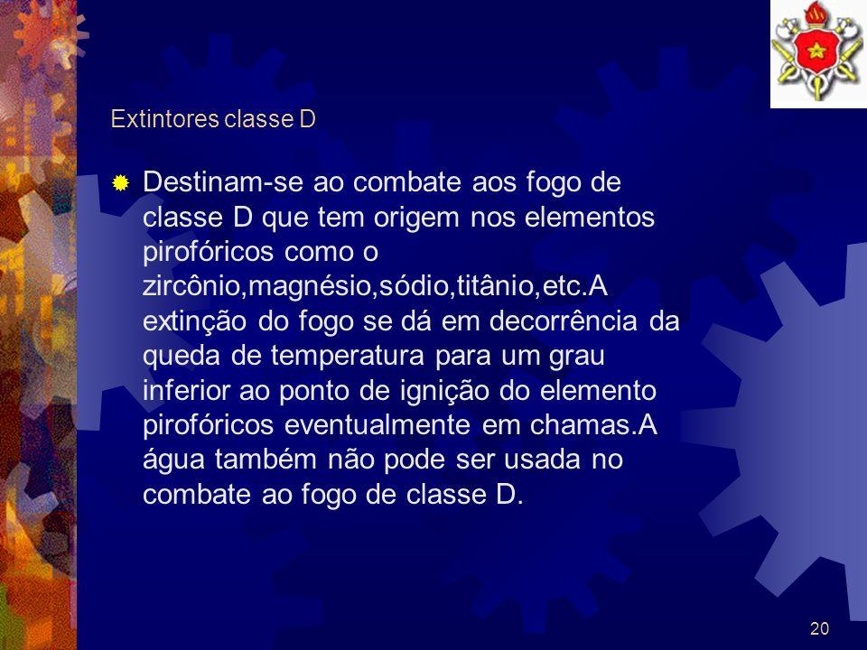 Extintores classe D