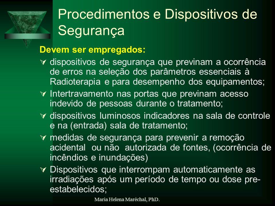 Procedimentos e Dispositivos de Segurança